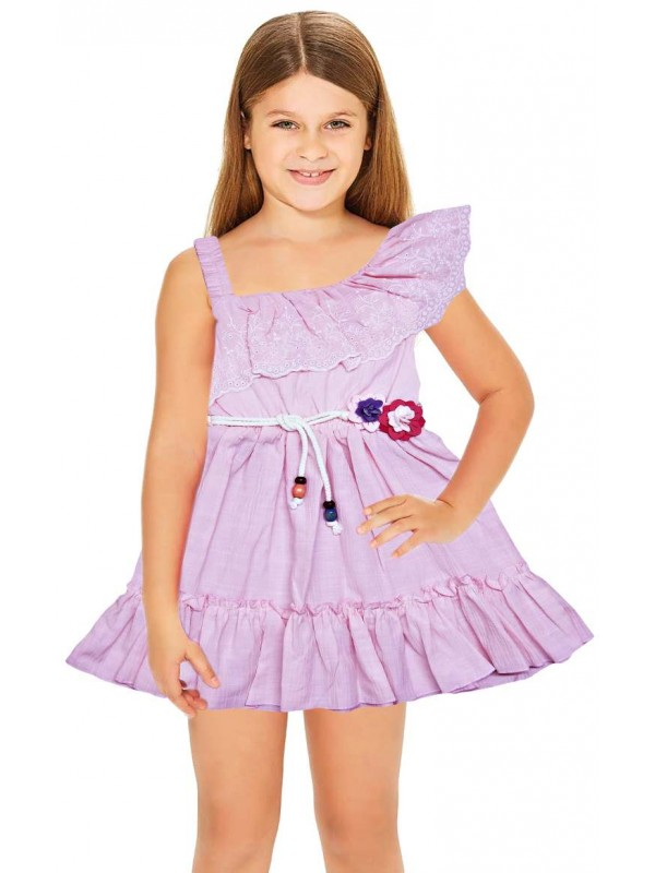 1-2-3 age summer flower girl dress wholesale purple