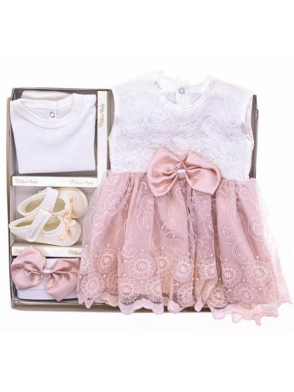 детское крестильное платье оптом детские наборы розовые