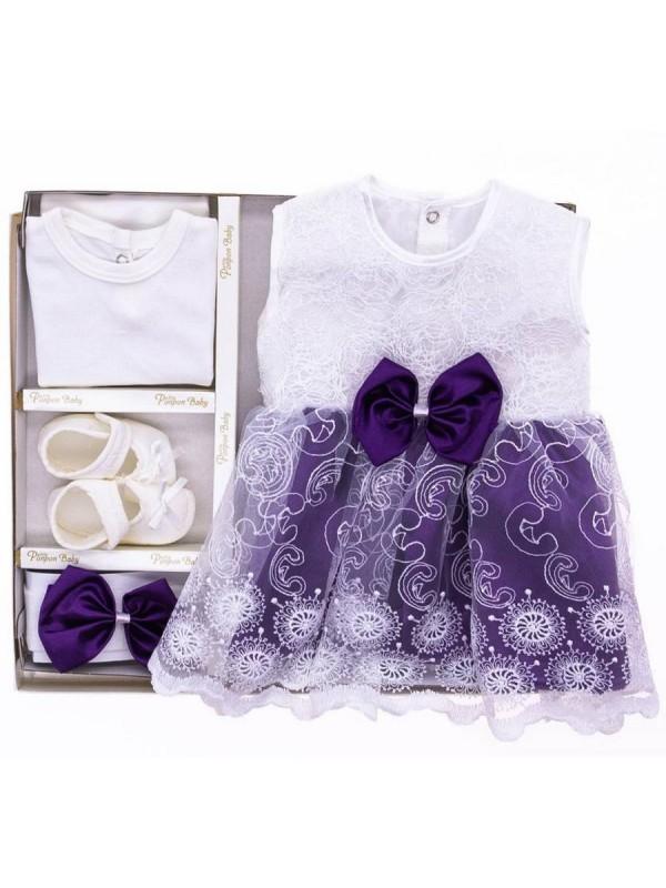 детское крестильное платье оптом детские наборы фиолетовый
