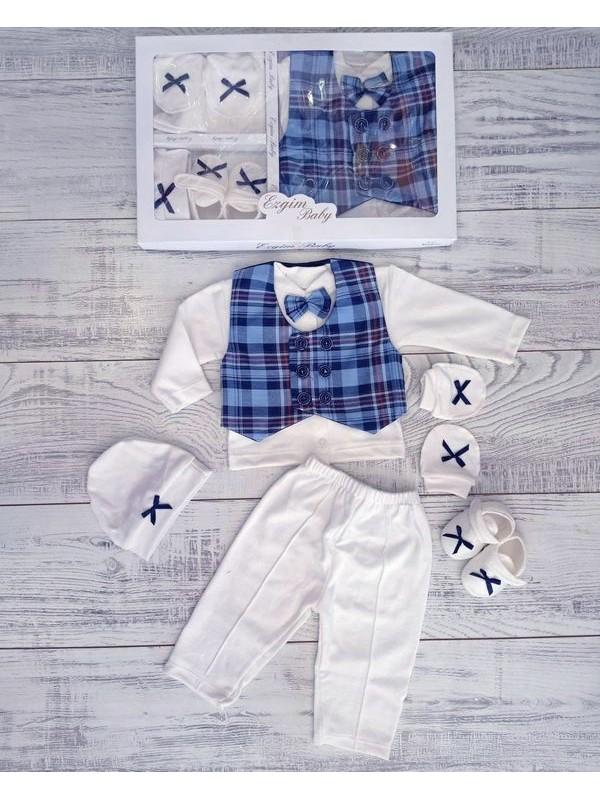 одежда для новорожденных оптом мальчик новорожденный бокс-сет оптом синий