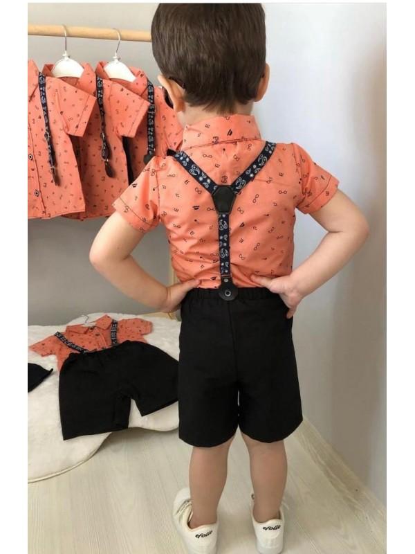 Летний современный костюм для мальчиков 1-2-3-4 лет оптом