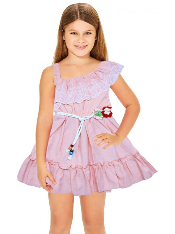 1-2-3 age summer floral girls dress wholesale pink