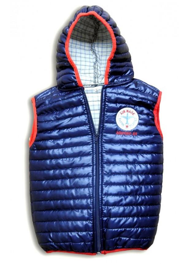 3-4-5-6-7-8-9-10 yaş kışlık çocuk kapşonlu yelek toptan renk1