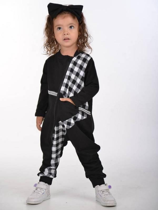 осенняя детская одежда для девочек оптом 2/8 лет черный белый