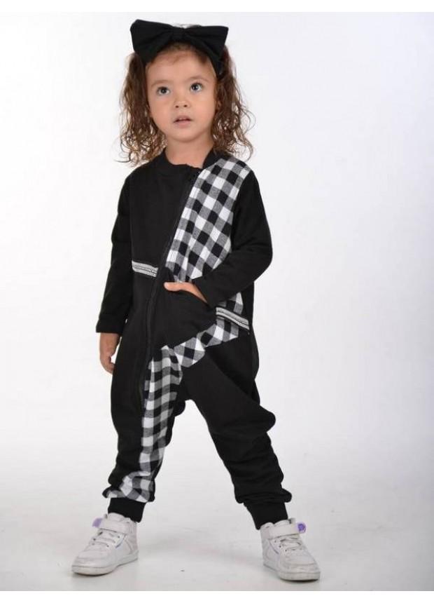 sonbahar çocuk kız giyim toptan 2/8 yaş siyah beyaz