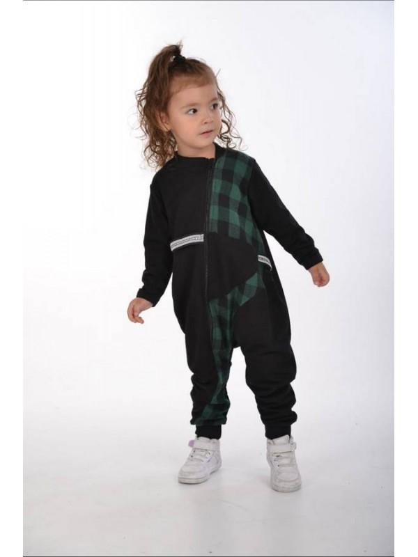 осенняя детская одежда для девочек оптом 2/8 лет темно-зеленая
