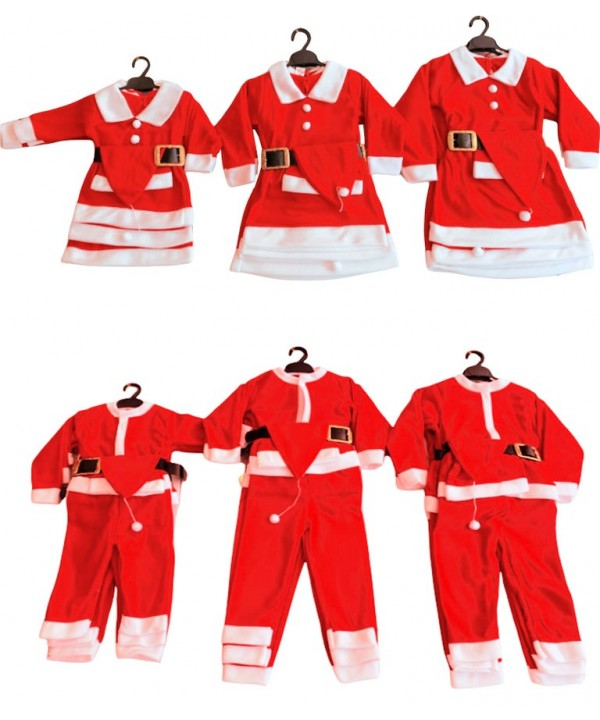 Kids santa claus costume girls boys christmas clothes wholesale