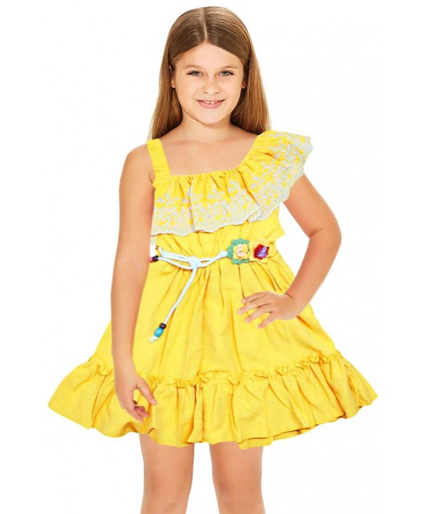 1-2-3 age summer flower girl dress wholesale yellow