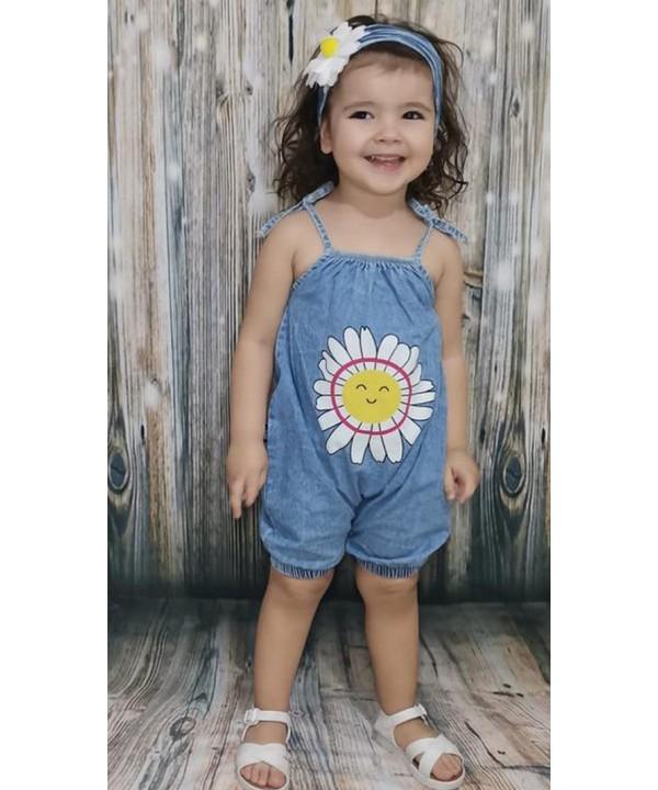 summer bandana baby girl kids jean dress wholesal