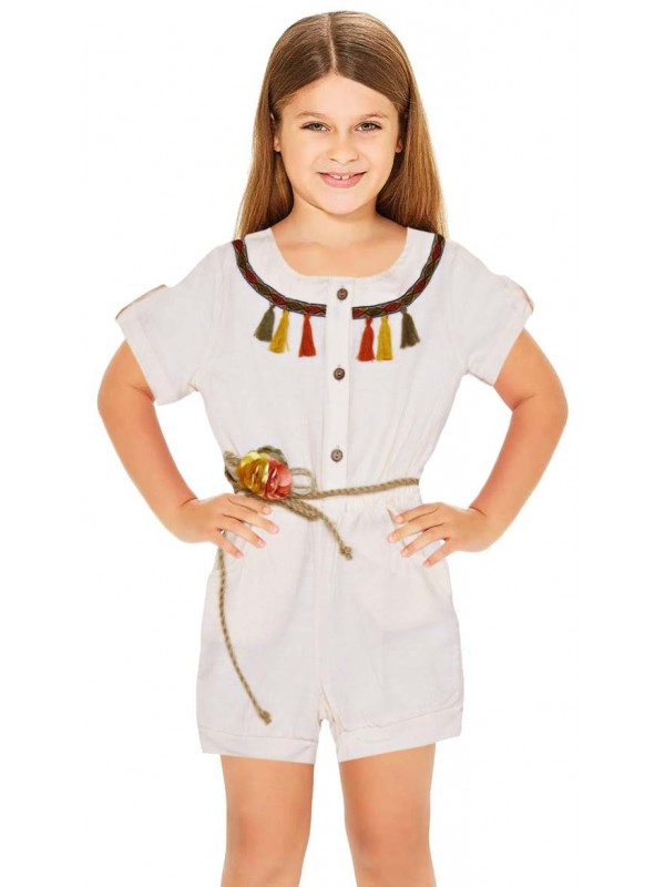 1-2-3-4-5-6 age summer girls dress wholesale white