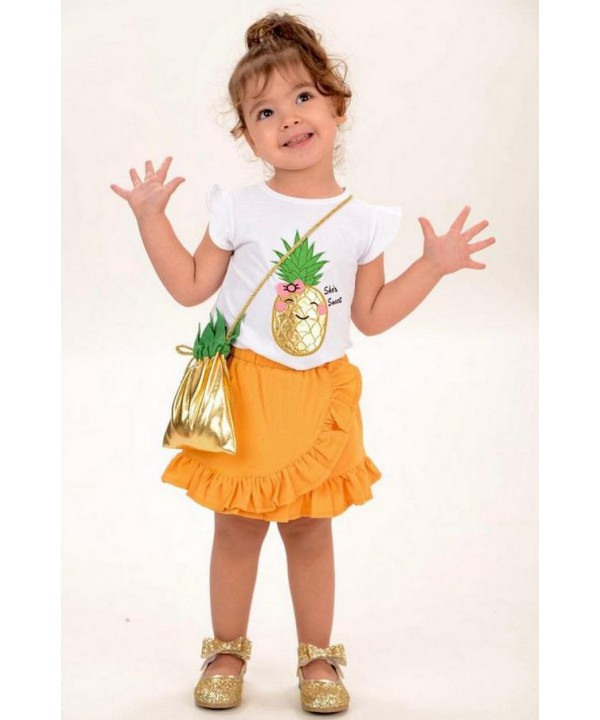 2 / 10 ages summer girl dress with bag wholesale