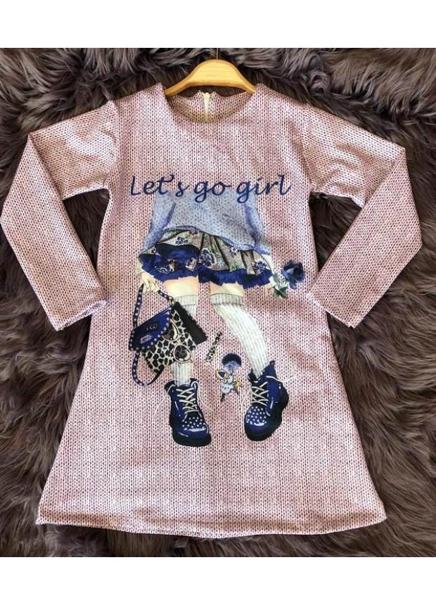 çocuk kız giyim toptan tunik elbiseler 6/9 yaş turkeyoptom