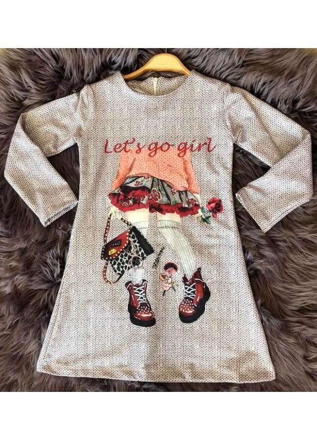 çocuk kız giyim toptan tunik elbiseler 6/9 yaş online mağaza