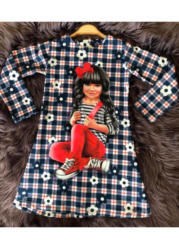 çocuk kız giyim toptan tunik elbiseler 6/9 yaş resim fiyat