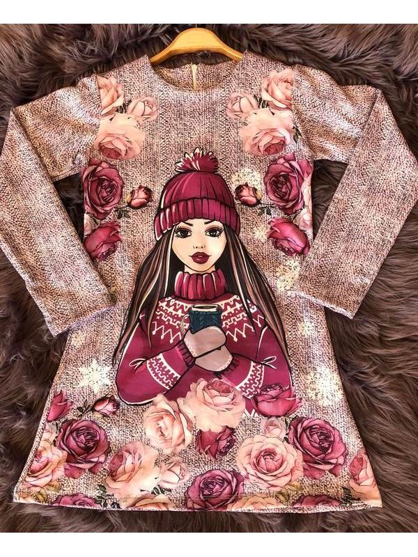 çocuk kız giyim toptan tunik elbiseler 6/9 yaş tedarikçi firmalar