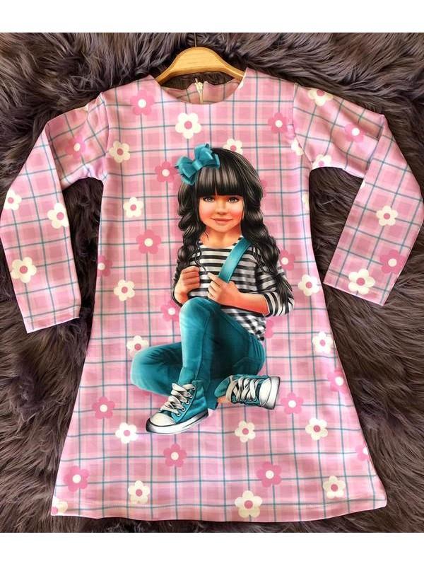 çocuk kız giyim toptan tunik elbiseler 6/9 yaş kaliteli