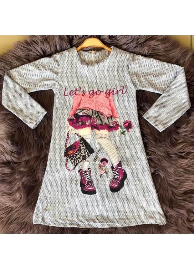 çocuk kız giyim toptan tunik elbiseler 6/9 yaş ÇGM