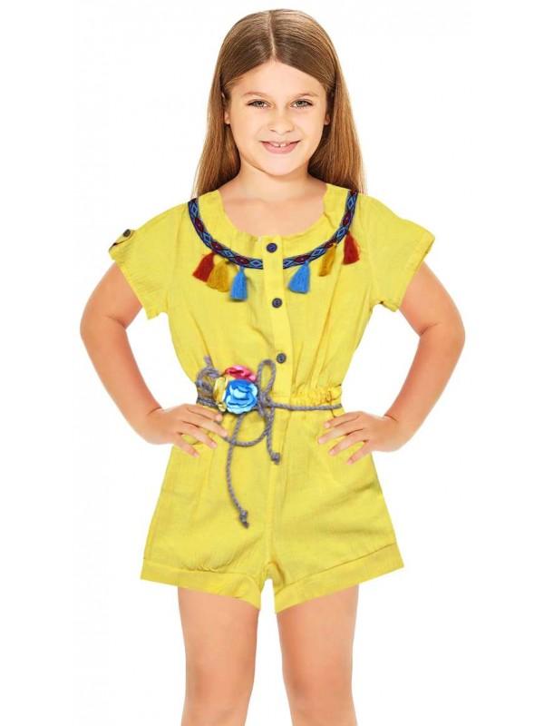 1-2-3-4-5-6 age summer girls dress wholesale yellow