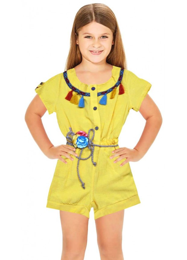 1-2-3-4-5-6 лет летние девушки одеваются оптом желтое