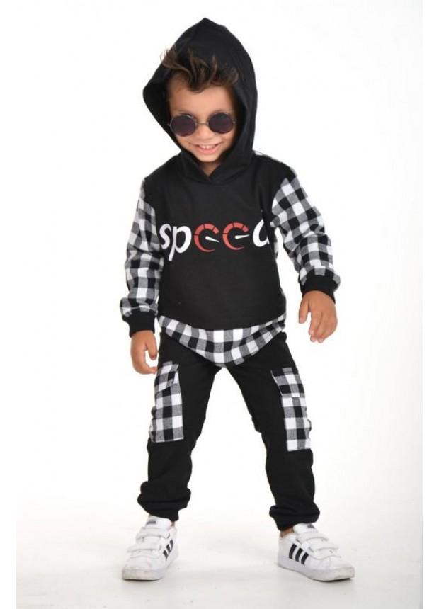 kışlık sonbahar erkek çocuk giyim toptan 3/9 yaş siyah beyaz