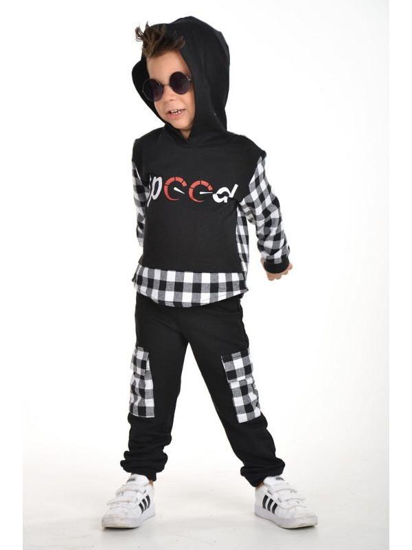 Зимняя осенняя одежда для мальчиков оптом 3/9 лет черно-белая