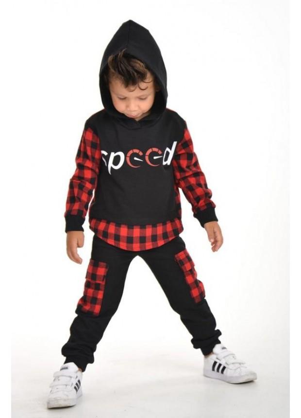 kışlık sonbahar erkek çocuk giyim toptan 3/9 yaş kırmızı