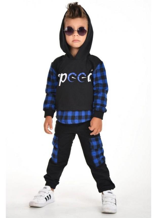 kışlık sonbahar erkek çocuk giyim toptan 3/9 yaş mavi
