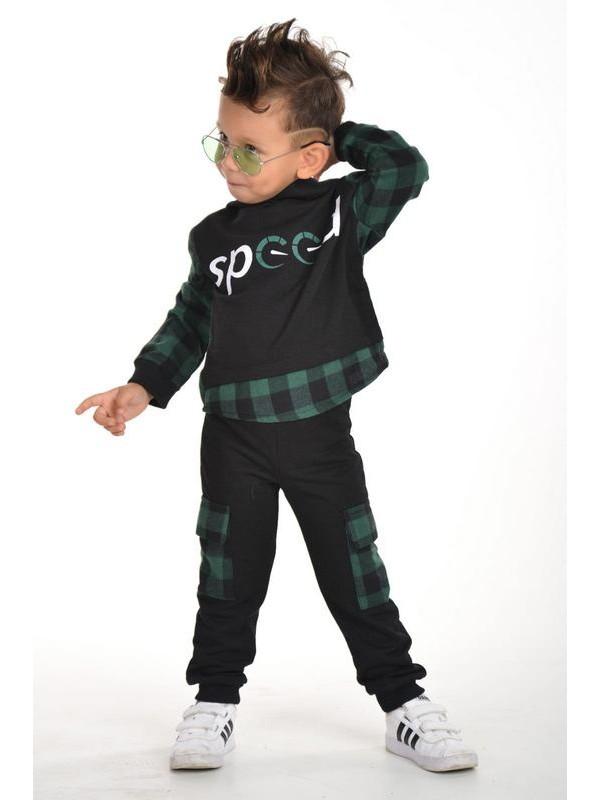 зима осень одежда для мальчиков оптом 3/9 лет зеленый