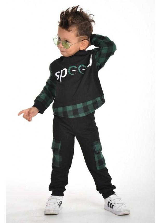 kışlık sonbahar erkek çocuk giyim toptan 3/9 yaş yeşil