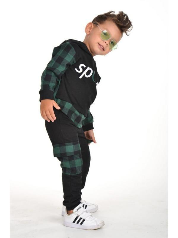winter autumn boys clothing wholesale 3/9 age green