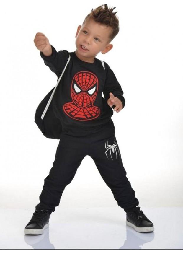 kış çocuk erkek giysileri toptan 2/8 yaş örümcek adam