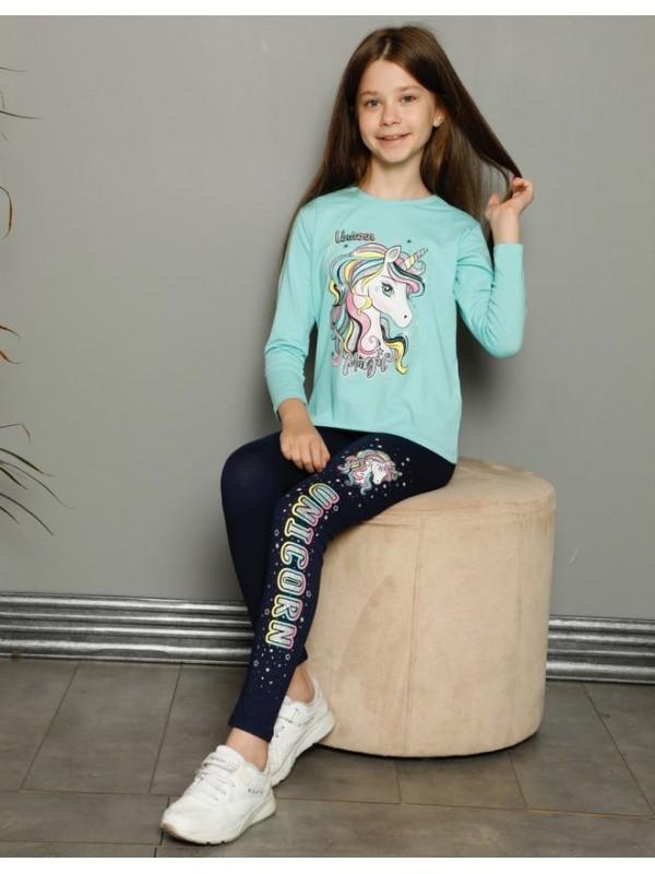 children girls pajamas tracksuits 3/10 age unicorn print