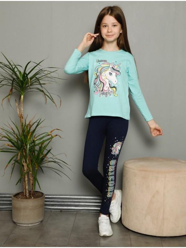 Детская одежда для девочек, пижамы, спортивные костюмы, от 3 до 10 лет, принт единорога