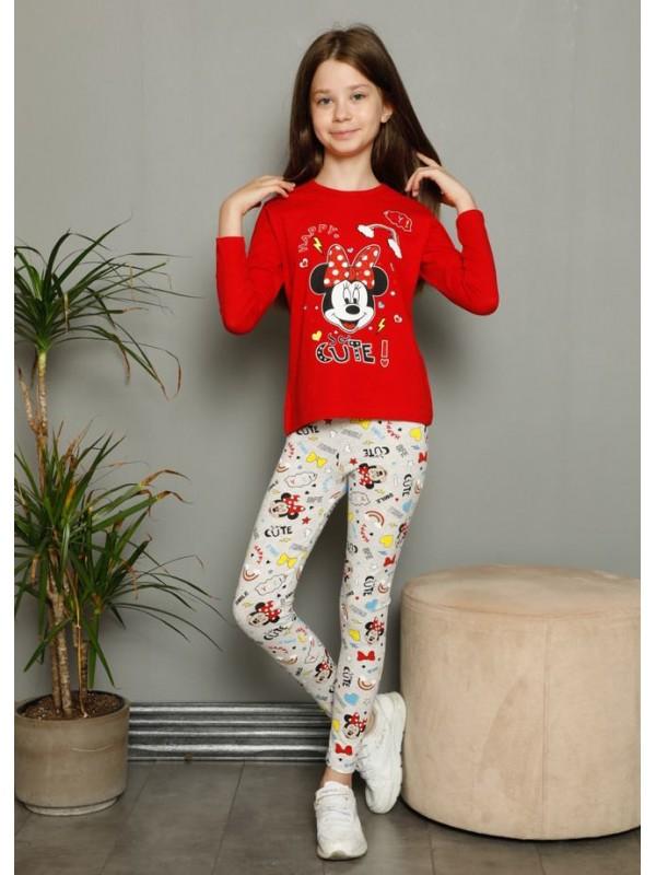 Детская одежда для девочек, пижамы 3/10 возраста с принтом Микки Мауса