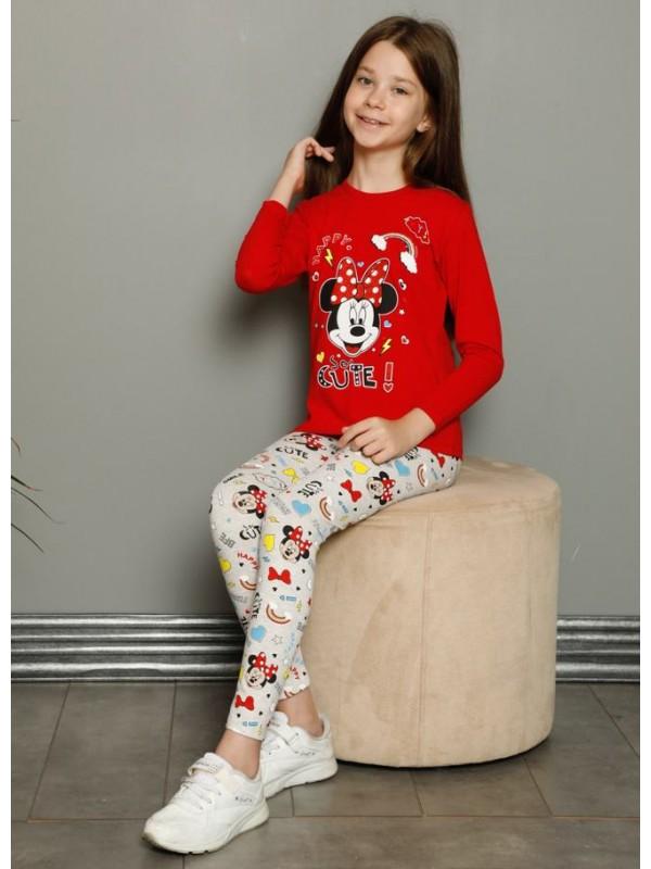 kids girls clothing pajamas 3/10 age mickey mouse print