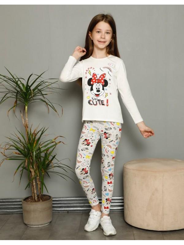 детская одежда для девочек пижамы 3/10 возраст красочный серый белый