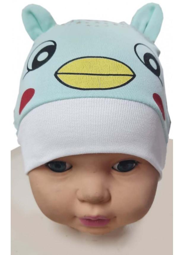 12 шт. Детская шапка с принтом котенка оптом Ма