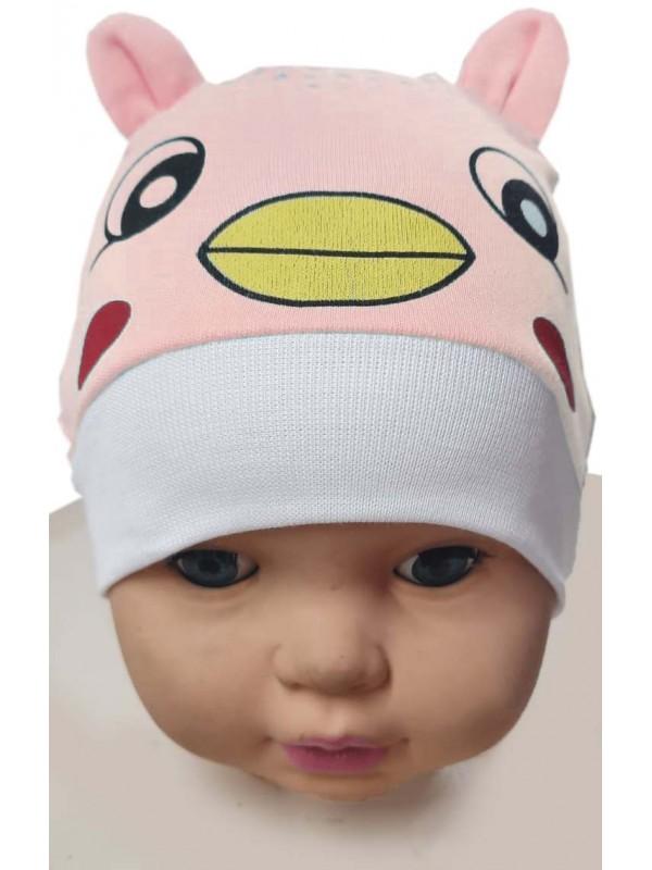 12 Adet bebek şapka kedicik baskılı toptan Mb