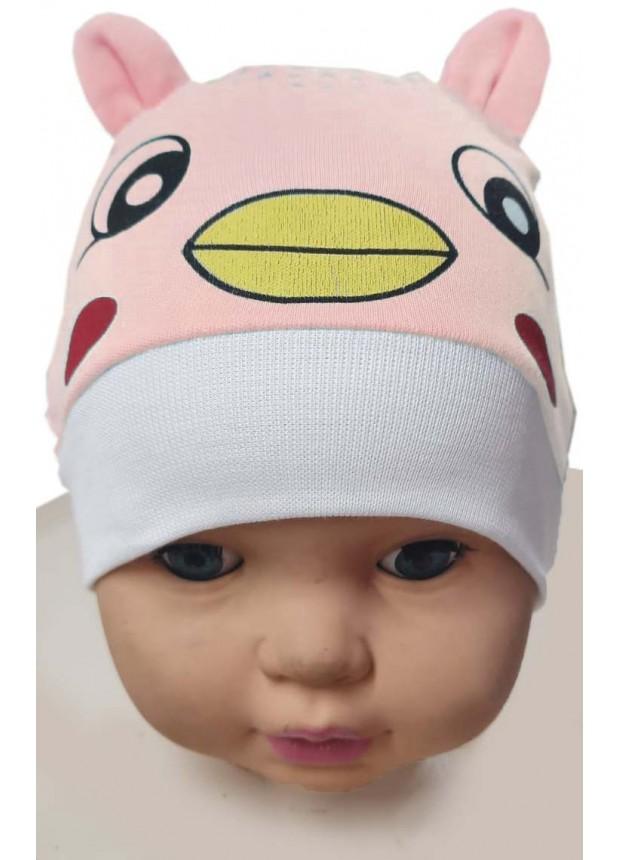 Детская шапка с принтом котёнка 12 Pieces оптом Mb