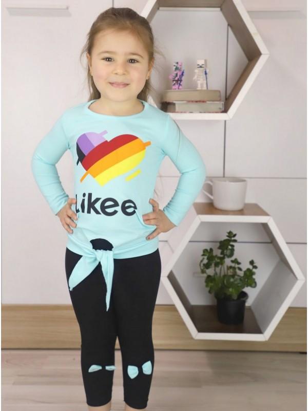 autumn girls clothing wholesale 1/8 age turquoise