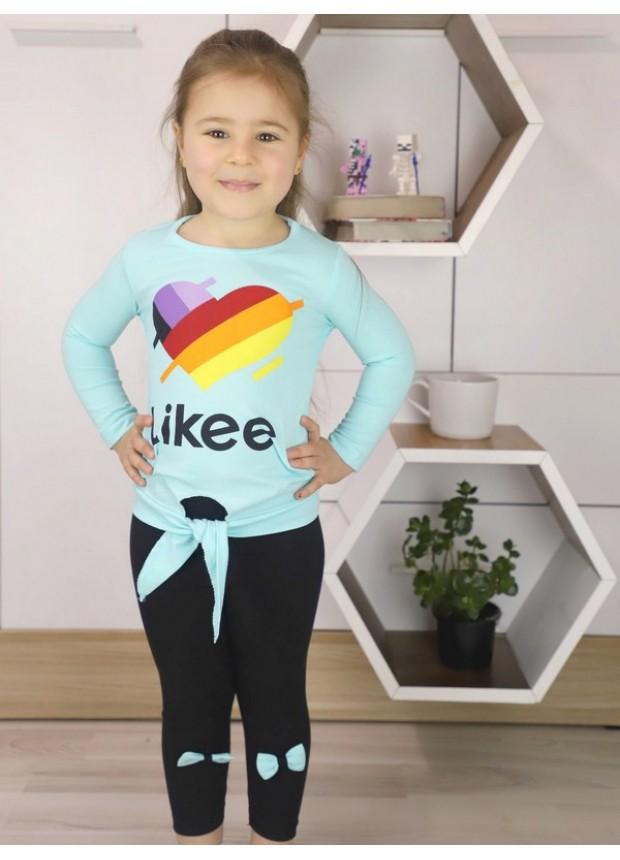 sonbahar kız çocuk giyim toptan 1/8 yaş turkuaz