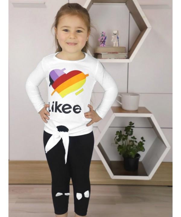 autumn girls clothing wholesale 1/8 age white