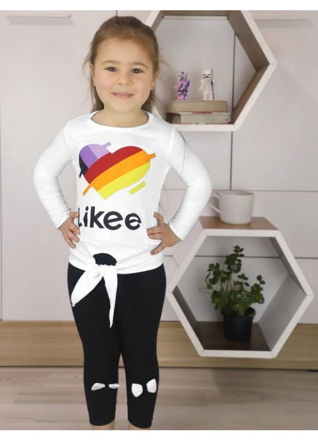 sonbahar kız çocuk giyim toptan 1/8 yaş beyaz