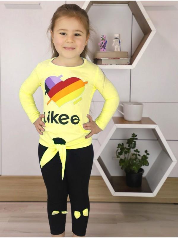 autumn girls clothing wholesale 1/8 age yellow
