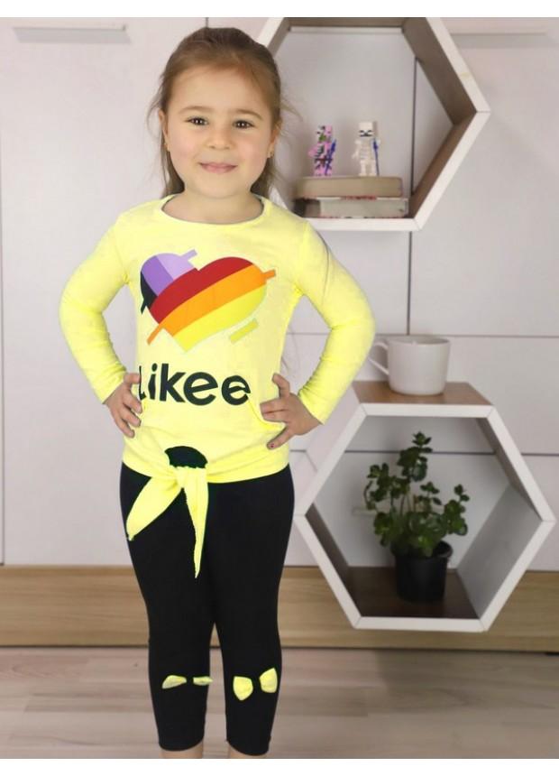 sonbahar kız çocuk giyim toptan 1/8 yaş sarı