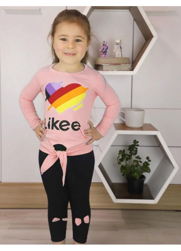 sonbahar kız çocuk giyim toptan 1/8 yaş pembe