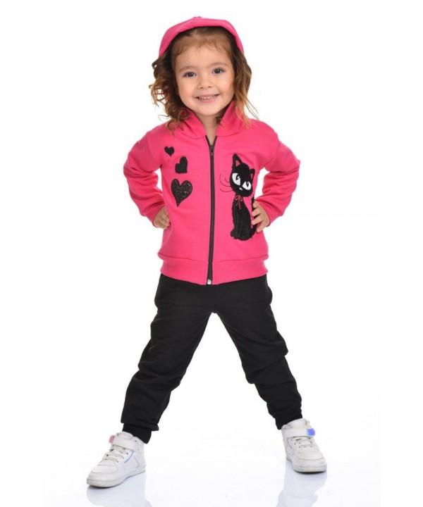 sweet girl tracksuit set 3/10 ages fuchsia