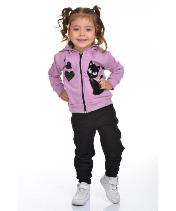 sweet girl tracksuit set 3/10 ages purple color