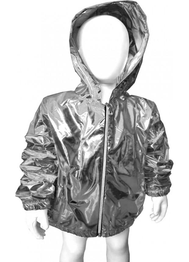 erkek kız çocuk kaliteli yağmurluk fosforlu parlak gümüş 5 6 7 8 yaş