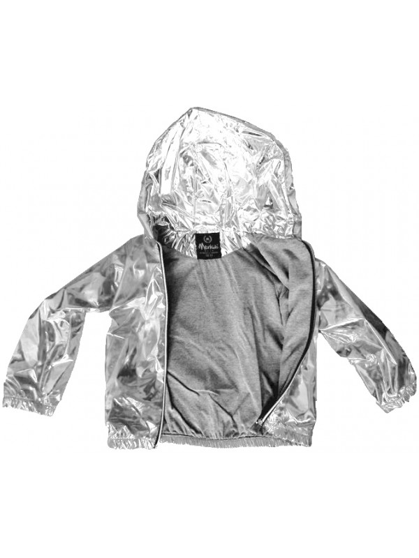 boys girls high quality raincoat phosphorescent shiny silver 5 6 7 8 age
